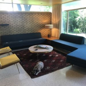 Custom Sectional Sofa with Corner End Table